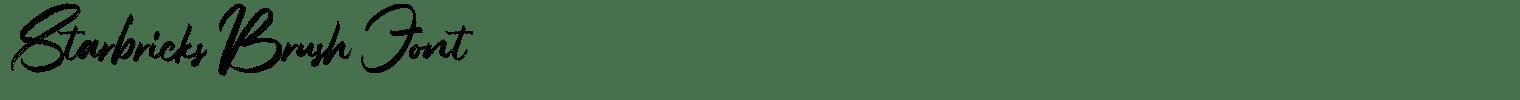Starbricks Brush Font