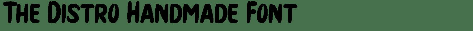 The Distro Handmade Font
