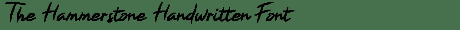 The Hammerstone Handwritten Font