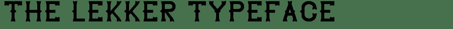 The Lekker Typeface