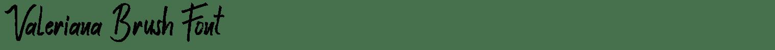 Valeriana Brush Font