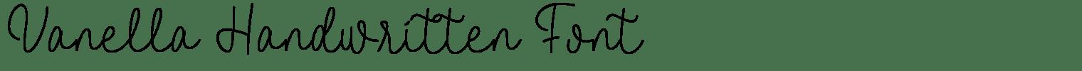 Vanella Handwritten Font