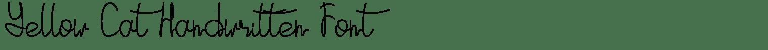 Yellow Cat Handwritten Font