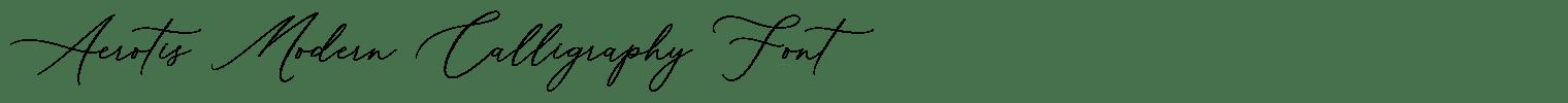 Aerotis Modern Calligraphy Font