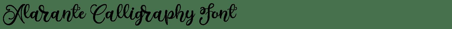 Alarante Calligraphy Font