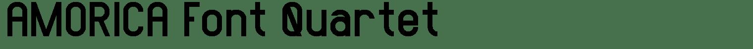 AMORICA Font Quartet