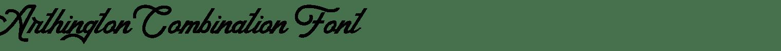 Arthington Combination Font