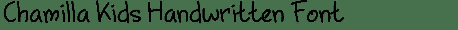 Chamilla Kids Handwritten Font