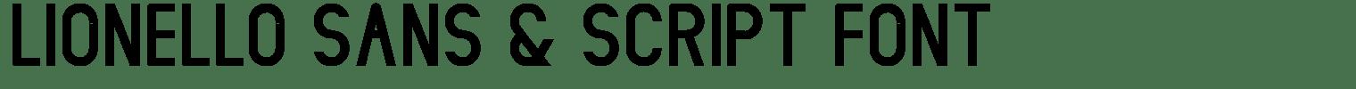Lionello Sans & Script Font