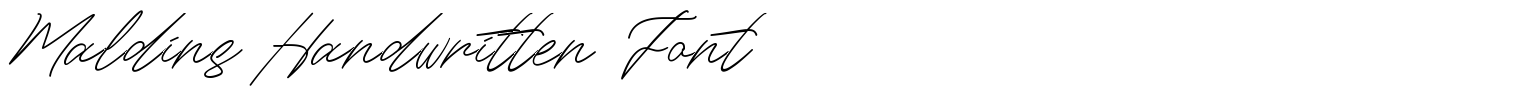 Maldins Handwritten Font