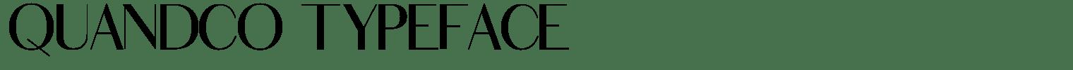 Quandco Typeface