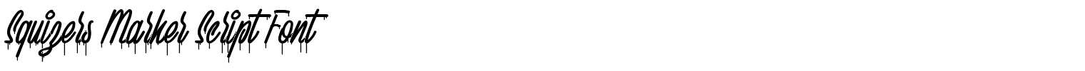 Squizers Marker Script Font