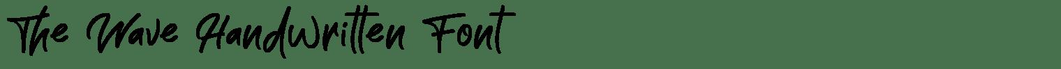 The Wave Handwritten Font