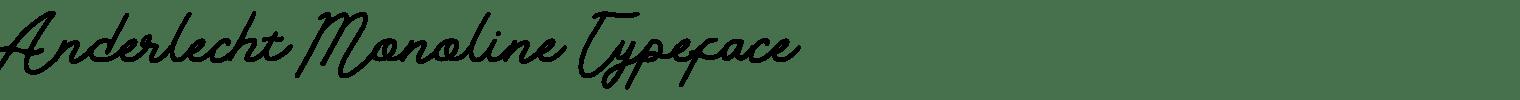 Anderlecht Monoline Typeface