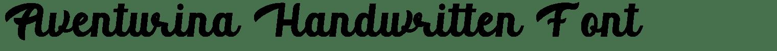 Aventurina Handwritten Font