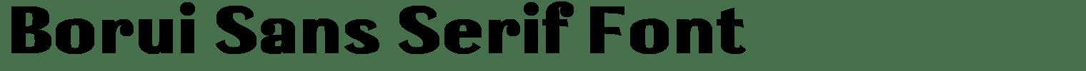 Borui Sans Serif Font