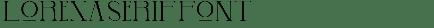 Lorena Serif Font