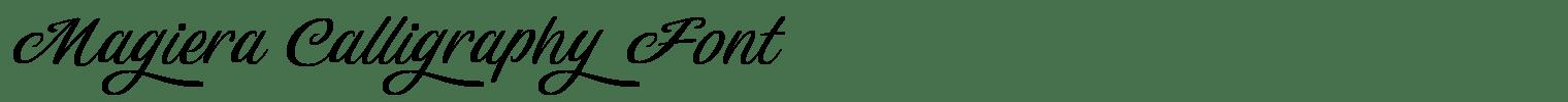 Magiera Calligraphy Font
