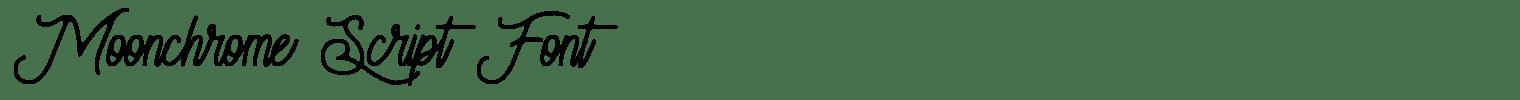 Moonchrome Script Font