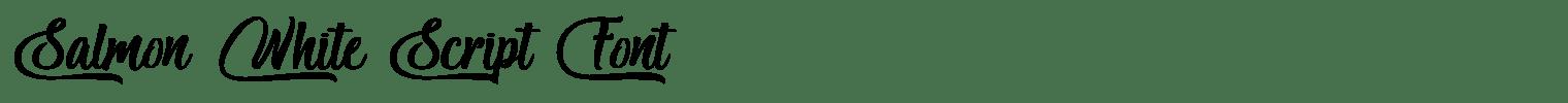 Salmon White Script Font