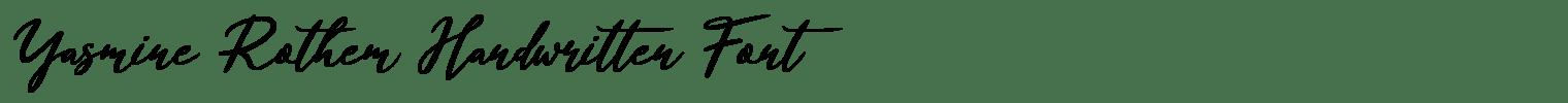 Yasmine Rothem Handwritten Font