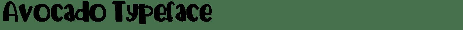 Avocado Typeface