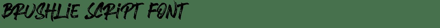 Brushlie Script Font