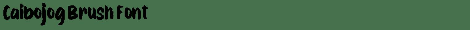 Caibojog Brush Font