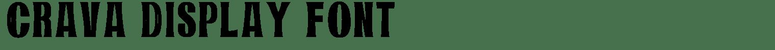 Crava Display Font