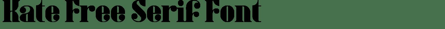 Kate Free Serif Font