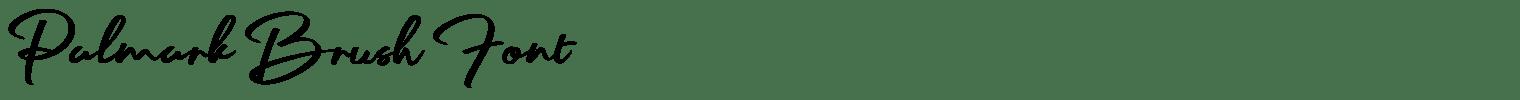 Palmark Brush Font