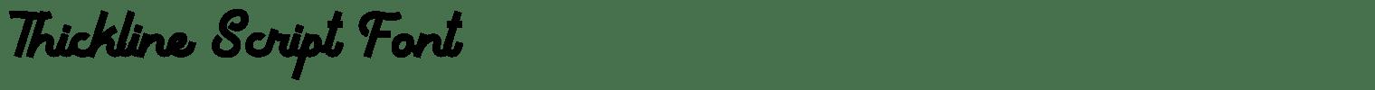 Thickline Script Font