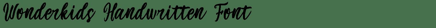 Wonderkids Handwritten Font