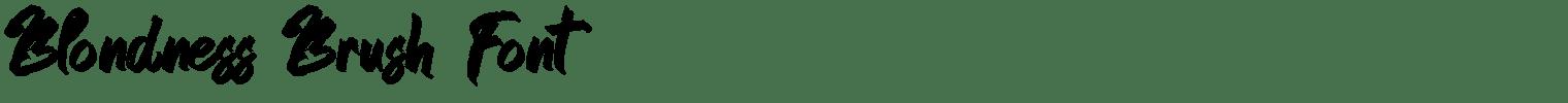 Blondness Brush Font