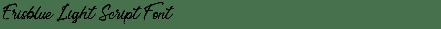 Erisblue Light Script Font