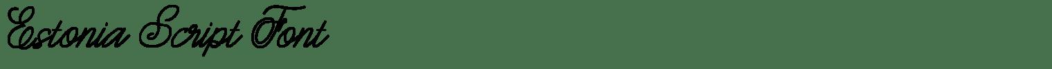 Estonia Script Font
