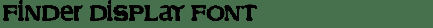 Finder Display Font