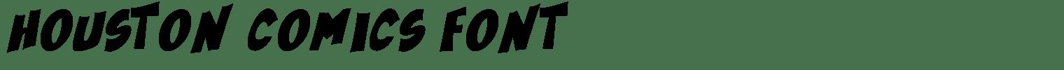 Houston Comics Font