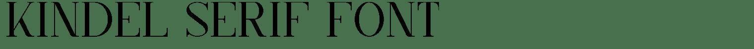 Kindel Serif Font