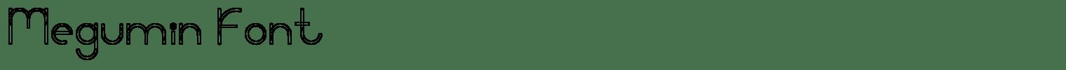 Megumin Font