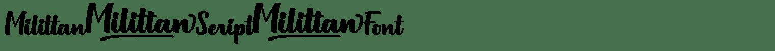 Milittan Script Font
