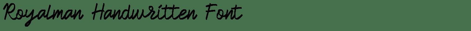 Royalman Handwritten Font