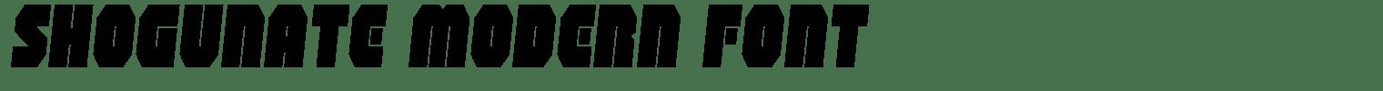 Shogunate modern Font