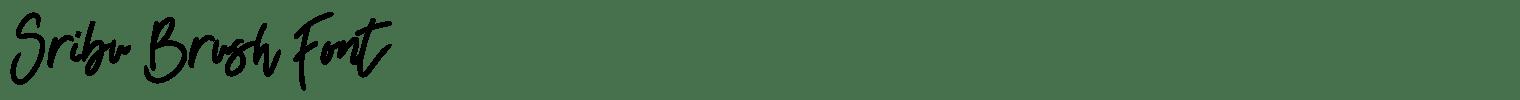 Sribu Brush Font