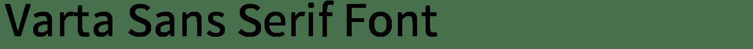 Varta Sans Serif Font