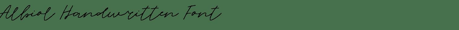 Albiol Handwritten Font