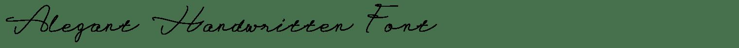 Alegant Handwritten Font