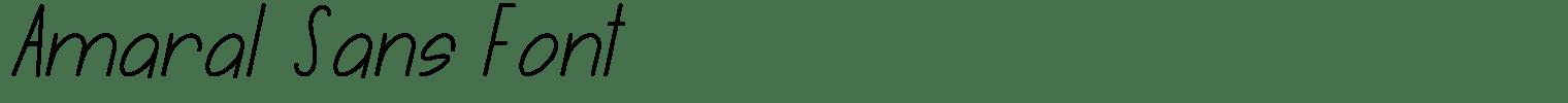 Amaral Sans Font