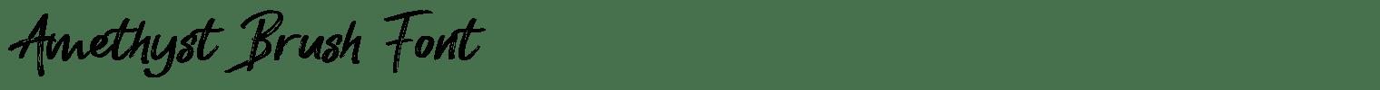 Amethyst Brush Font