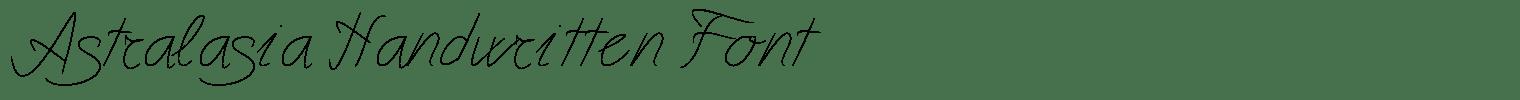 Astralasia Handwritten Font